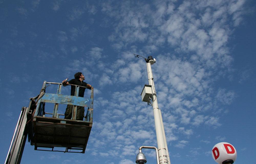 Stazione Davis Vantage Pro 2 attiva dal Giugno 2009 presso il Molo di D di porto Lotti Golfo di La Spezia