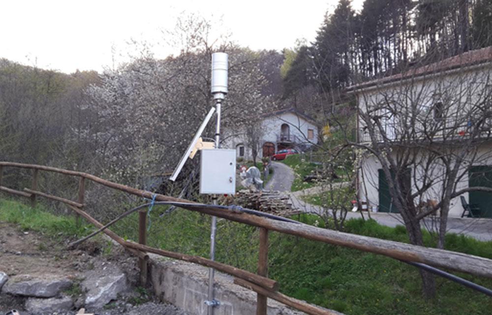 Il pluviometro di Piano Soprano nel comune di Bormida (520 m s.l.m.)